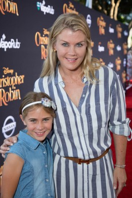 """Megan Sanov and Alison Sweeney attend the world premiere of Disney's """"Christopher Robin"""" at the Main Theater on the Walt Disney Studios lot in Burbank, CA on July 30, 2018. (Photo: Alex J. Berliner/ABImages)"""