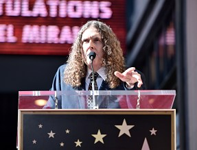 """LOS ANGELES, CALIFORNIA - NOVEMBER 30: """"Weird Al"""" Yankovic attends the ceremony honoring Lin-Manuel Miranda with a Star on the Hollywood Walk of Fame on November 30, 2018 in Hollywood, California. (Photo by Alberto E. Rodriguez/Getty Images for Disney)"""
