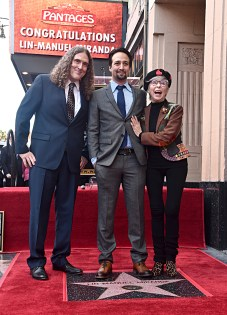 "LOS ANGELES, CALIFORNIA - NOVEMBER 30: (L-R) Rita Moreno, Lin-Manuel Miranda, ""Weird Al"" Yankovic and Suzanne Yankovic attend the ceremony honoring Lin-Manuel Miranda with a Star on the Hollywood Walk of Fame on November 30, 2018 in Hollywood, California. (Photo by Alberto E. Rodriguez/Getty Images for Disney)"