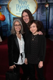 Suzanne Yankovic, Al Yankovic and Nina Yankovic attend The World Premiere of Disney's Mary Poppins Returns at the Dolby Theatre in Hollywood, CA on Wednesday, November 29, 2018 (Photo: Alex J. Berliner/ABImages)