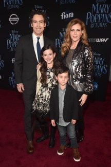 HOLLYWOOD, CA - NOVEMBER 29: (L-R) John Fortson, Abby Ryder Fortson, Christie Lynn Smith and Joshua Taylor Fortson attend Disney's 'Mary Poppins Returns' World Premiere at the Dolby Theatre on November 29, 2018 in Hollywood, California. (Photo by Alberto E. Rodriguez/Getty Images for Disney) *** Local Caption *** John Fortson; Abby Ryder Fortson; Christie Lynn Smith; Joshua Taylor Fortson