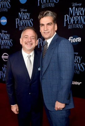 HOLLYWOOD, CA - NOVEMBER 29: Composer/Co-lyricist Marc Shaiman (L) and Louis Mirabal attend Disney's 'Mary Poppins Returns' World Premiere at the Dolby Theatre on November 29, 2018 in Hollywood, California. (Photo by Alberto E. Rodriguez/Getty Images for Disney) *** Local Caption *** Marc Shaiman; Louis Mirabal
