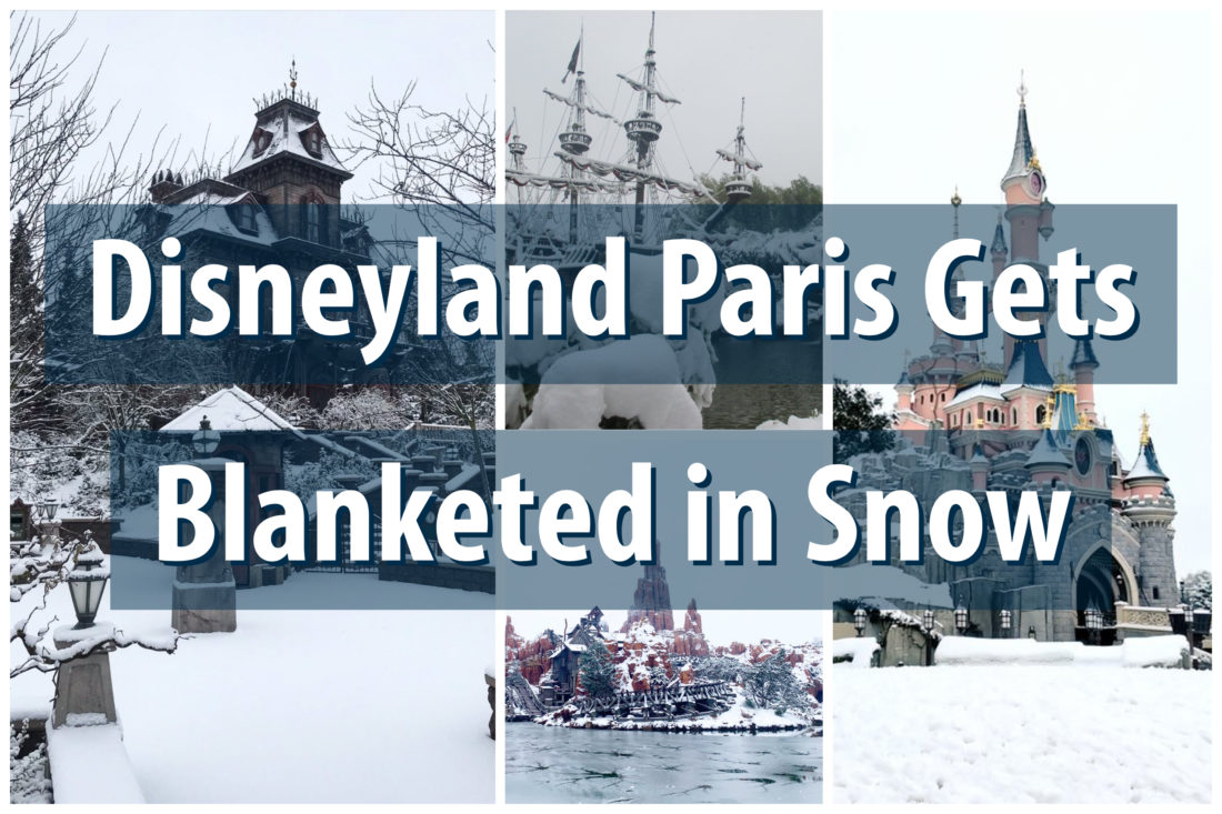 Disneyland Paris Gets Even More Magic in the Form of Snow!
