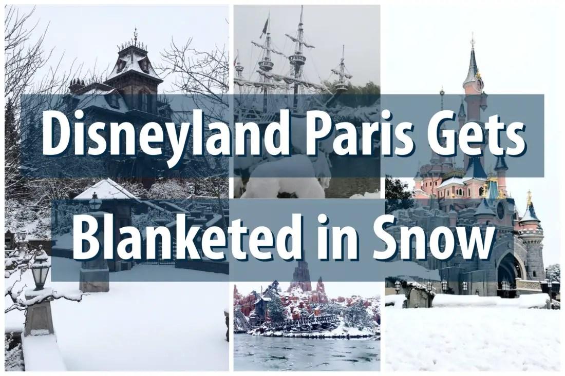 Disneyland Paris Gets Blanketed in Snow