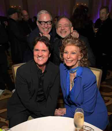 "BEVERLY HILLS, CA - JANUARY 11: Sophia Loren host a star-studded reception for ""Mary Poppins Returns,"" nominated for 4 Golden Globe® Awards including Best Picture, 9 Critics' Choice Awards and AFI's Top 10 Films of 2018 at a special screening. Filmmakers joining her at the reception were: director Rob Marshall, producer John DeLuca, director of photography Dion Beebe, production designer John Myhre, composer, songwriter/co-lyricist Marc Shaiman and co-lyricist Scott Wittman>> at Montage Beverly Hills on January 11, 2019 in Beverly Hills, California (Photo by Charley Gallay/Getty Images for Disney) *** Local Caption *** Rob Marshall;Sophia Loren;Scott Whitman;Marc Shaiman"