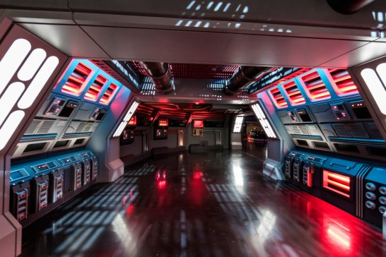 Disney guests will traverse the corridors of a Star Destroyer on Star Wars: Rise of the Resistance and join a battle between the First Order and the Resistance — including a face-off with Kylo Ren — when Star Wars: Galaxy's Edge opens in summer 2019. (Photo by Joshua Sudock, Disney Parks)