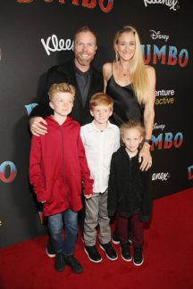 """LOS ANGELES, CA - MARCH 11: Kerri Walsh Jennings (R) and guests attend the World Premiere of Disney's """"Dumbo"""" at the El Capitan Theatre on March 11, 2019 in Los Angeles, California. (Photo by Jesse Grant/Getty Images for Disney) *** Local Caption *** Kerri Walsh Jennings"""