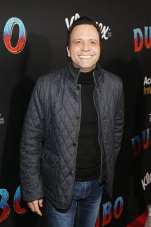 """LOS ANGELES, CA - MARCH 11: Omar y Argelia attends the World Premiere of Disney's """"Dumbo"""" at the El Capitan Theatre on March 11, 2019 in Los Angeles, California. (Photo by Jesse Grant/Getty Images for Disney) *** Local Caption *** Omar y Argelia"""