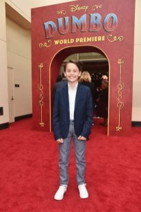 """LOS ANGELES, CA - MARCH 11: Actor Finley Hobbins attends the World Premiere of Disney's """"Dumbo"""" at the El Capitan Theatre on March 11, 2019 in Los Angeles, California. (Photo by Alberto E. Rodriguez/Getty Images for Disney) *** Local Caption *** Finley Hobbins"""