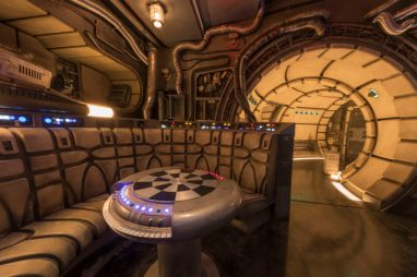 The famous Òchess roomÓ is one of several areas Disney guests will discover inside Millennium Falcon: Smugglers Run at Star Wars: GalaxyÕs Edge before taking the controls in one of three unique and critical roles aboard the fastest ship in the galaxy. Star Wars: GalaxyÕs Edge will open May 31, 2019, at Disneyland Resort in California and Aug. 29, 2019, at Walt Disney World Resort in Florida. (Joshua Sudock/Disney Parks)