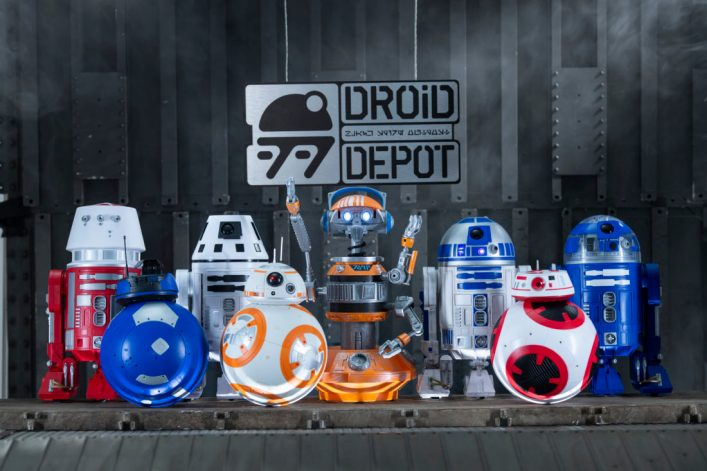 Disney guests visiting Star Wars: GalaxyÕs Edge will be able to stop by the Droid Depot to build their own R-series or BB-series droids that will act as a friend throughout the village of Black Spire Outpost. Star Wars: GalaxyÕs Edge opens May 31, 2019, at Disneyland Resort in California and Aug. 29, 2019, at Walt Disney World Resort in Florida. (David Roark/Disney Parks)