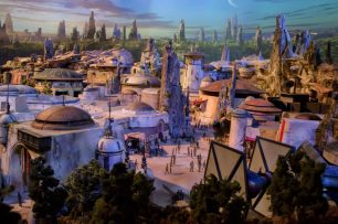 Star Wars: Galaxy's Edge will open May 31, 2019, at Disneyland Park in Anaheim, California, and Aug. 29, 2019, at Disney's Hollywood Studios in Lake Buena Vista, Florida. At 14 acres each, Star Wars: Galaxy's Edge will be Disney's largest single-themed land expansions ever, transporting guests to live their own Star Wars adventures in Black Spire Outpost, a village on the remote planet of Batuu, full of unique sights, sounds, smells and tastes. Guests can become part of the story as they sample galactic food and beverages, explore an intriguing collection of merchant shops and take the controls of the most famous ship in the galaxy aboard Millennium Falcon: Smugglers Run. (Disney Parks)