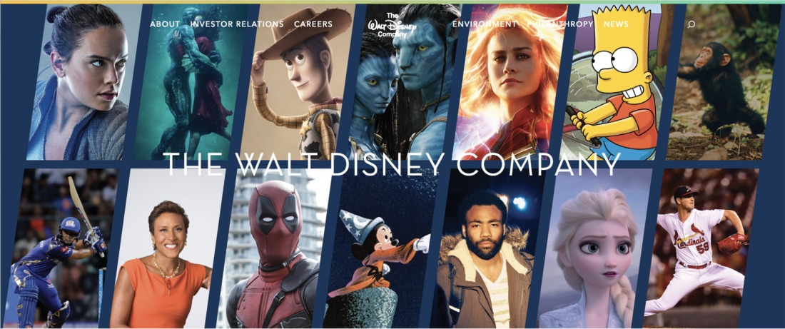 Walt Disney Company Adds Properties from 21st Century Fox Deal to Homepage