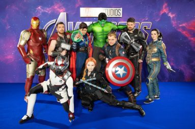 Fans attend the UK Fan Event to celebrate the release of Marvel Studios' 'Avengers: Endgame' at Picturehouse Central on April 10, 2019 in London, England.