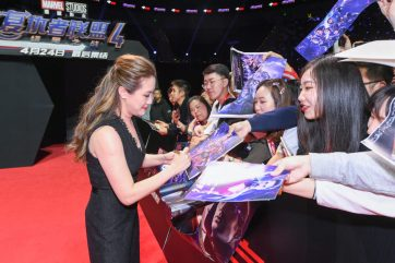 Trinh Tran at the Avengers Endgame China Fan Event Red Carpet