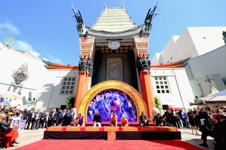 AVENGERS- ENDGAME Handprints at Chinese Theatre-6