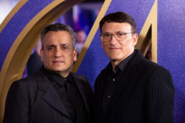 Joe & Anthony Russo attend the UK Fan Event to celebrate the release of Marvel Studios' 'Avengers: Endgame' at Picturehouse Central on April 10, 2019 in London, England.