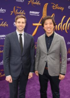 "LOS ANGELES, CA - MAY 21: Producers Jonathan Eirich (L) and Dan Lin attend the World Premiere of Disney's ""Aladdin"" at the El Capitan Theater in Hollywood CA on May 21, 2019, in the culmination of the film's Magic Carpet World Tour with stops in Paris, London, Berlin, Tokyo, Mexico City and Amman, Jordan. (Photo by Jesse Grant/Getty Images for Disney) *** Local Caption *** Jonathan Eirich; Dan Lin"