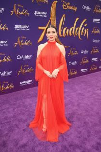 "LOS ANGELES, CA - MAY 21: Katie Stevens attends the World Premiere of Disney's ""Aladdin"" at the El Capitan Theater in Hollywood CA on May 21, 2019, in the culmination of the film's Magic Carpet World Tour with stops in Paris, London, Berlin, Tokyo, Mexico City and Amman, Jordan. (Photo by Jesse Grant/Getty Images for Disney) *** Local Caption *** Katie Stevens"