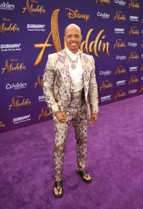 "LOS ANGELES, CA - MAY 21: Choreographer Jamal Sims attends the World Premiere of Disney's ""Aladdin"" at the El Capitan Theater in Hollywood CA on May 21, 2019, in the culmination of the film's Magic Carpet World Tour with stops in Paris, London, Berlin, Tokyo, Mexico City and Amman, Jordan. (Photo by Jesse Grant/Getty Images for Disney) *** Local Caption *** Jamal Sims"