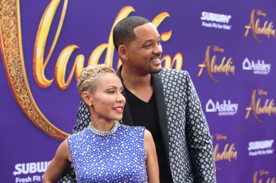 "LOS ANGELES, CA - MAY 21: Jada Pinkett Smith (L) and Will Smith attend the World Premiere of Disney's ""Aladdin"" at the El Capitan Theater in Hollywood CA on May 21, 2019, in the culmination of the film's Magic Carpet World Tour with stops in Paris, London, Berlin, Tokyo, Mexico City and Amman, Jordan. (Photo by Jesse Grant/Getty Images for Disney) *** Local Caption *** Jada Pinkett Smith; Will Smith"