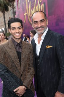 Mena Massoud and Navid Negahban attend the World Premiere of DisneyÕs Aladdin at the El Capitan Theater in Hollywood, CA on Tuesday, May 21, 2019, in the culmination of the filmÕs Magic Carpet World Tour with stops in Paris, London, Berlin, Tokyo, Mexico City and Amman, Jordan. (photo: Alex J. Berliner/ABImages)