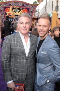 Matt Sullivan and Justin Paul attend the World Premiere of DisneyÕs Aladdin at the El Capitan Theater in Hollywood, CA on Tuesday, May 21, 2019, in the culmination of the filmÕs Magic Carpet World Tour with stops in Paris, London, Berlin, Tokyo, Mexico City and Amman, Jordan. (photo: Alex J. Berliner/ABImages)