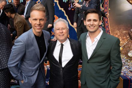 Justin Paul, Alan Menken and Benj Pasek attend the World Premiere of DisneyÕs Aladdin at the El Capitan Theater in Hollywood, CA on Tuesday, May 21, 2019, in the culmination of the filmÕs Magic Carpet World Tour with stops in Paris, London, Berlin, Tokyo, Mexico City and Amman, Jordan. (photo: Alex J. Berliner/ABImages)