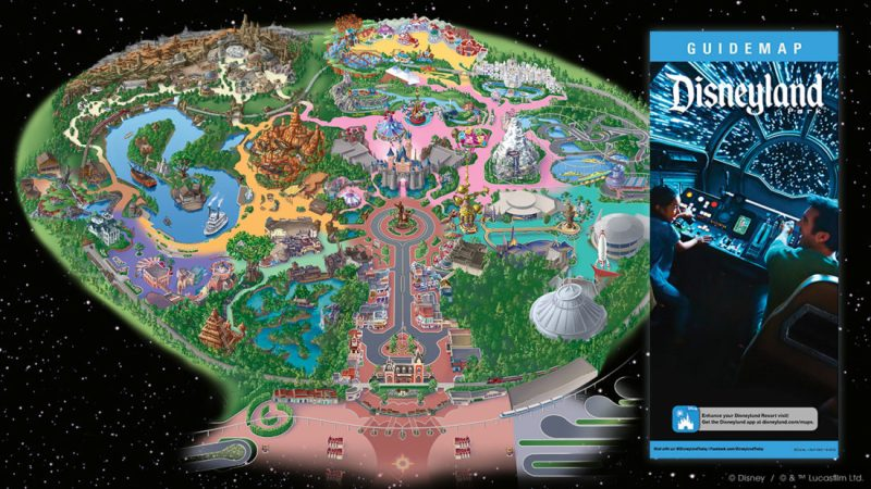 Star Wars: Galaxy's Edge - Disneyland Map