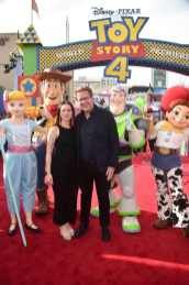 HOLLYWOOD, CA - JUNE 11: Executive producer/screenwriter Andrew Stanton (R) and guest attend the world premiere of Disney and Pixar's TOY STORY 4 at the El Capitan Theatre in Hollywood, CA on Tuesday, June 11, 2019. (Photo by Alberto E. Rodriguez/Getty Images for Disney) *** Local Caption *** Andrew Stanton