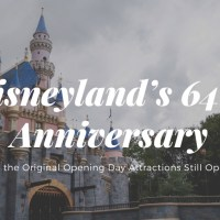 A Brief History and Look at the current Disneyland Opening Day Attractions