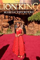"""HOLLYWOOD, CALIFORNIA - JULY 09: Marsai Martin attends the World Premiere of Disney's """"THE LION KING"""" at the Dolby Theatre on July 09, 2019 in Hollywood, California. (Photo by Alberto E. Rodriguez/Getty Images for Disney)"""