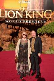 """HOLLYWOOD, CALIFORNIA - JULY 09: Brenda Chapman (L) attends the World Premiere of Disney's """"THE LION KING"""" at the Dolby Theatre on July 09, 2019 in Hollywood, California. (Photo by Alberto E. Rodriguez/Getty Images for Disney)"""