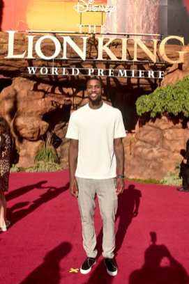 """HOLLYWOOD, CALIFORNIA - JULY 09: Michael Kidd-Gilchrist attends the World Premiere of Disney's """"THE LION KING"""" at the Dolby Theatre on July 09, 2019 in Hollywood, California. (Photo by Alberto E. Rodriguez/Getty Images for Disney)"""