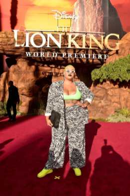 """HOLLYWOOD, CALIFORNIA - JULY 09: Jazzmyne Robbins attends the World Premiere of Disney's """"THE LION KING"""" at the Dolby Theatre on July 09, 2019 in Hollywood, California. (Photo by Alberto E. Rodriguez/Getty Images for Disney)"""