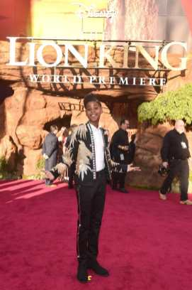 """HOLLYWOOD, CALIFORNIA - JULY 09: JD McCrary attends the World Premiere of Disney's """"THE LION KING"""" at the Dolby Theatre on July 09, 2019 in Hollywood, California. (Photo by Alberto E. Rodriguez/Getty Images for Disney)"""