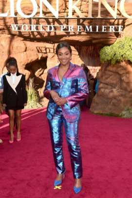 """HOLLYWOOD, CALIFORNIA - JULY 09: Tiffany Haddish attends the World Premiere of Disney's """"THE LION KING"""" at the Dolby Theatre on July 09, 2019 in Hollywood, California. (Photo by Alberto E. Rodriguez/Getty Images for Disney)"""
