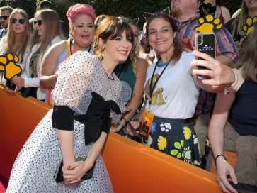 """HOLLYWOOD, CALIFORNIA - JULY 09: Zooey Deschanel attends the World Premiere of Disney's """"THE LION KING"""" at the Dolby Theatre on July 09, 2019 in Hollywood, California. (Photo by Charley Gallay/Getty Images for Disney)"""