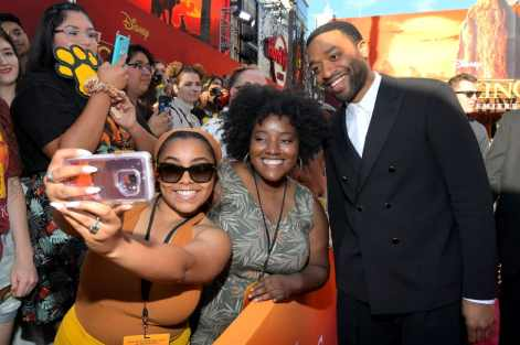 """HOLLYWOOD, CALIFORNIA - JULY 09: Chiwetel Ejiofor attends the World Premiere of Disney's """"THE LION KING"""" at the Dolby Theatre on July 09, 2019 in Hollywood, California. (Photo by Charley Gallay/Getty Images for Disney)"""