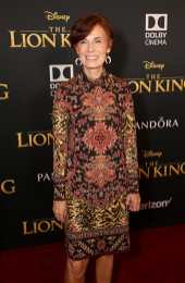 """HOLLYWOOD, CALIFORNIA - JULY 09: Linda Woolverton attends the World Premiere of Disney's """"THE LION KING"""" at the Dolby Theatre on July 09, 2019 in Hollywood, California. (Photo by Jesse Grant/Getty Images for Disney)"""