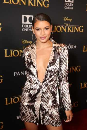 """HOLLYWOOD, CALIFORNIA - JULY 09: Denise Rodriguez attends the World Premiere of Disney's """"THE LION KING"""" at the Dolby Theatre on July 09, 2019 in Hollywood, California. (Photo by Jesse Grant/Getty Images for Disney)"""