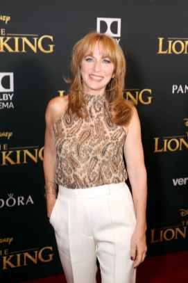 """HOLLYWOOD, CALIFORNIA - JULY 09: Sarah Halley Finn attends the World Premiere of Disney's """"THE LION KING"""" at the Dolby Theatre on July 09, 2019 in Hollywood, California. (Photo by Jesse Grant/Getty Images for Disney)"""