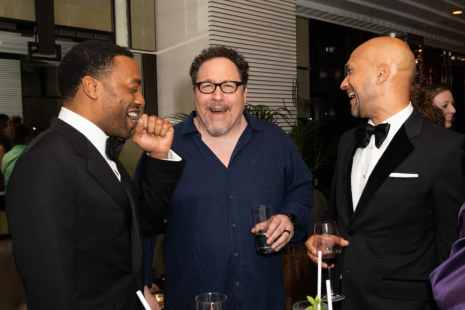 Chiwetel Ejiofor, Jon Favreau and Keegan-Michael Key attends the European Premiere of DisneyÕs ÒThe Lion KingÓ at the Odeon Leicester Square on 14th July 2019 in London, UK
