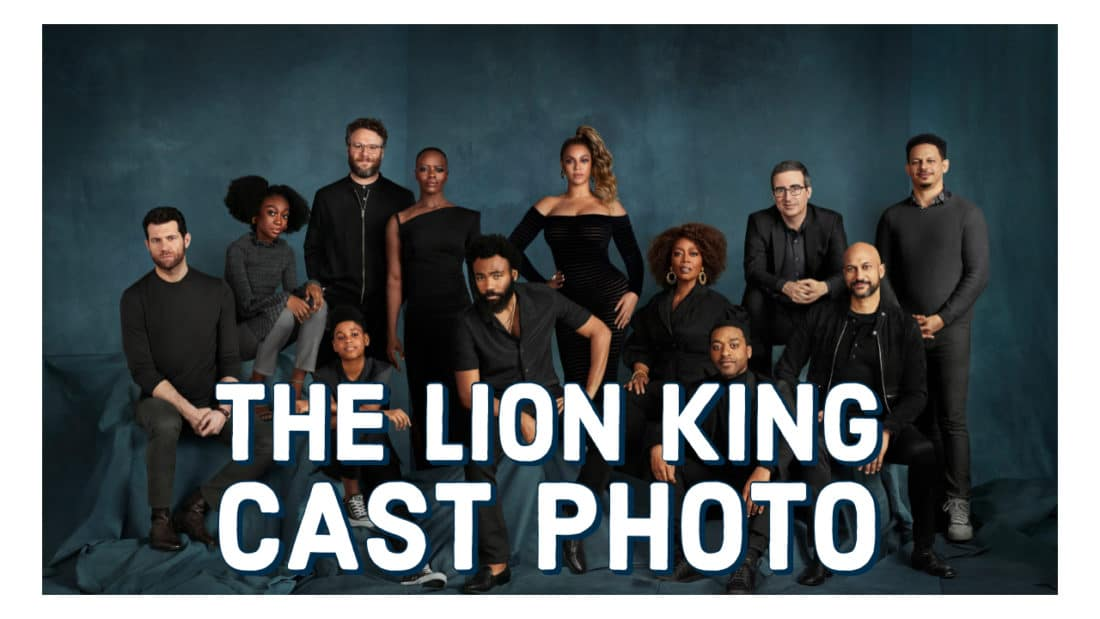 The Lion King Cast Photo Released by Disney