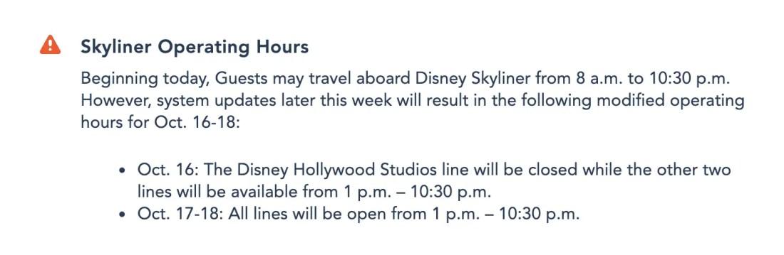 Disney Skyliner Announcement