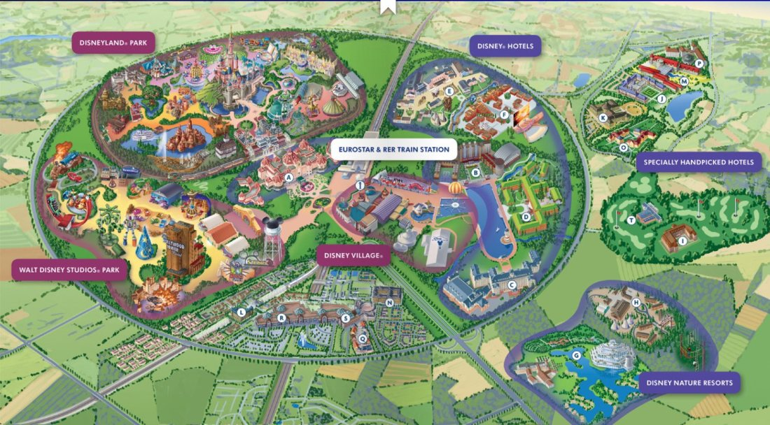 Disneyland Paris Map 2020