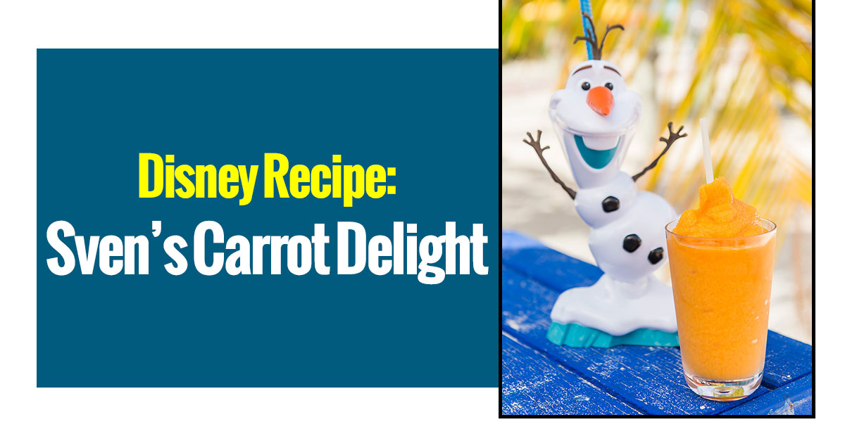 Disney Recipes: Sven's Carrot Delight