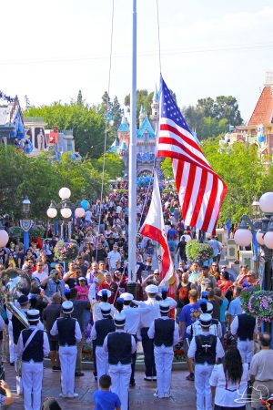Disneyland's Patriotic Flag Retreat