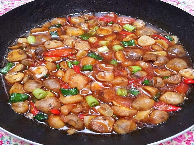 Resep jamur saus tiram