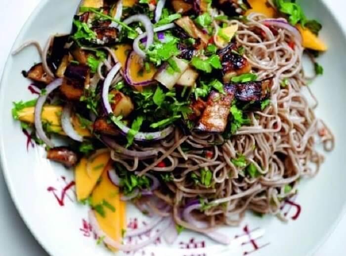 Resep Thai Salmon Manggo Vermicelli, Bisnis Makanan Organik